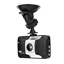 V26 Single Lens 1080P HD 5MP Car DVR 3.0-Inch Display 140-degree Carcorder black & silver