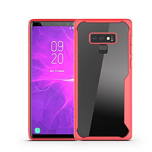 reputable site abd9f aaf9d Samsung Galaxy Note 9(Note9) Transparent Case PC And TPU Phone Back Cover -  Red