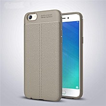 Shockproof Non slip Soft TPU Protective Slim Flexible Case with Litchi Pattern Leatherwear Case Cover for Oppo F1s / A59   XXZ-Z