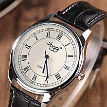 Blicool Wrist Watch Fashion Digital Dial Belt Quartz Simulation Watch Roman Digital Watch-brownBlack