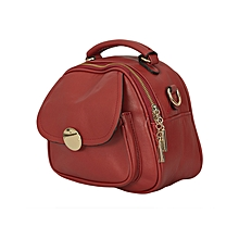 Maroon/Red PU Leather Ladies Slingbag.