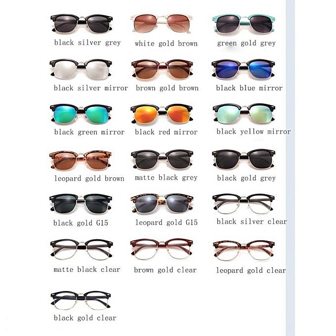 37960834c ... Men UV400 Sunglasses Men Women Luxury Vintage Semi-Rimless Brand Designer  Fashion Mirror Shades For