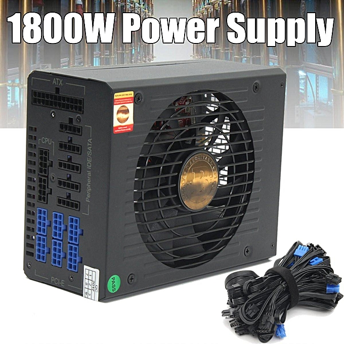 1800W 8 PIN Full Modular Power Supply For 6 GPU Eth Rig Ethereum Coin Miner  PFC