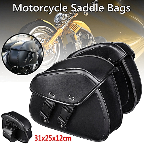 Motorcycle Tool Bag >> Generic Pair Black Pu Leather Motorcycle Tool Bag Luggage Saddle