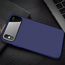 Lenuo LeJazz Series TPU + Glass Case for iPhone XS Max(Blue)