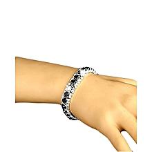 Black Crystal Rhinestone Bracelet