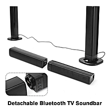 Split Soundbar 2000mAh 2.1 Channel Bluetooth Speaker TV Soundbar with Subwoofer Home Theater Stereo Surround Speaker Support TF Card/U Disk/Mic/AUX/FM Radio with AUX/RCA Cable for PC Tablet Smartphone - Black