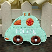 Cartoon Car Embroidery DIY Fabric Sticker Embroidery Patch Clothes Bags Ornament Sky Blue