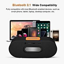 New High-quality Bluetooth Wireless HD Stereo Speaker Mini Portable Music Player FM Radio Black
