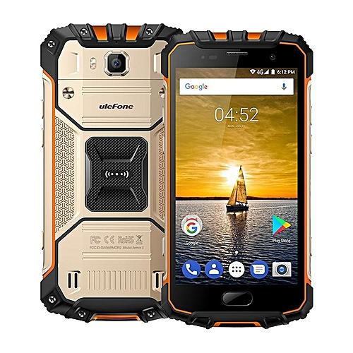 "ARMOR 2 6GB RAM 64GB ROM (Helio P25 2.6GHz Octa Core), 5.0 ""Corning Gorilla Glass Sharp FHD Screen (IP68 Waterproof),Android 7.0 4G LTE Smartphone Gold"