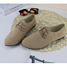Women casual boyfriend shoes Khaki Loafers