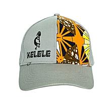 Light Grey And Orange Baseball   Sports Hat With Kelele Color On Panel e989105ea59d