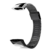 Mijobs Stainless Steel Watch Strap Replacement for Huawei for Honor 3 Band black