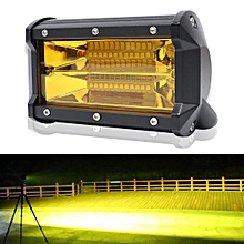 5 inch 72W 3000K 1080LM 24 LED Waterproof IP67 Two Bar Modified Off-road Lights Spotlight Light Car Work Lights, DC 9-48V(Yellow Light)