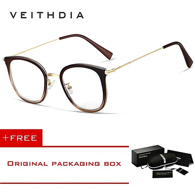 f7f9855d18dd Veithdia Unisex Fashion Women Glasses Frame Men Eyeglasses Frame Vintage  Clear Lens Glasses Optical Spectacle Frame