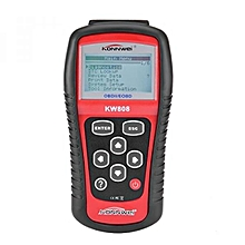 Authorized KW808 General Purpose Vehicle Auto OBDII EOBD Scanner Reader OBD2 Diagnostic Scan Tool OBD2 II Errors Code Reader LBQ