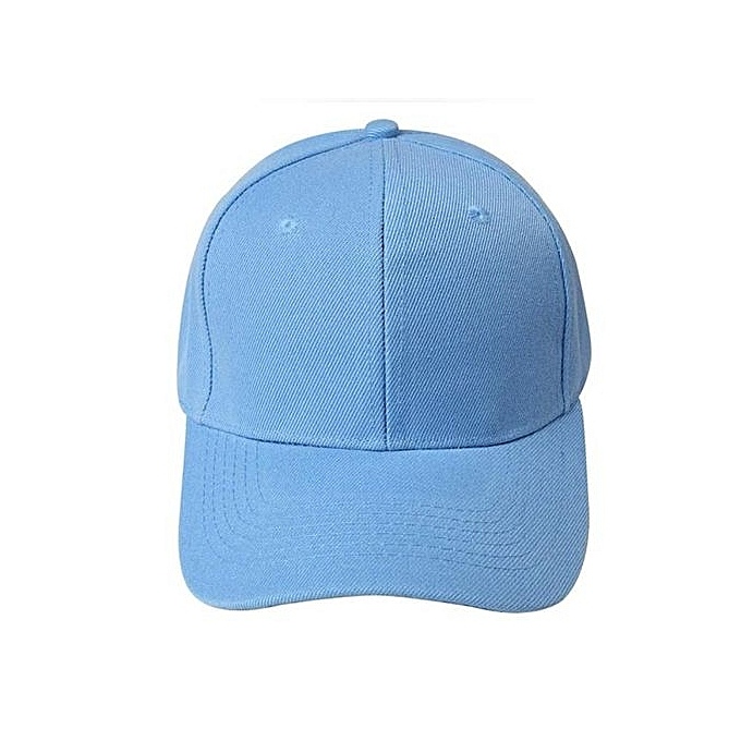 ccb4994bf6961f Eissely Baseball Cap Blank Hat Solid Color Adjustable Hat Sky Blue ...