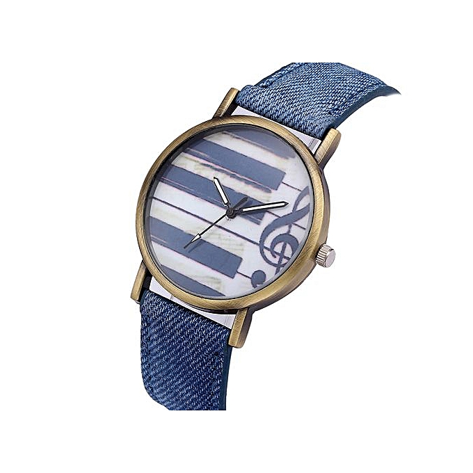 981145a913 Women Retro Digital Dial Leather Band Quartz Analog Wrist Watch Watches-blue