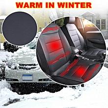 PU Leather Universal 12V Car Seat Heated Heating Cushion Pad Cover Winter Warmer