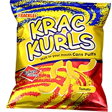 Baked Not Fried Krac Kurls Tomato Corn Puffs - 25g