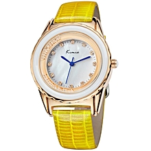 Yellow Ladies Wrist Watch + Free Gift Box