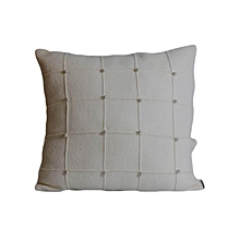 Patterned Decorative Pillow - Medium - white