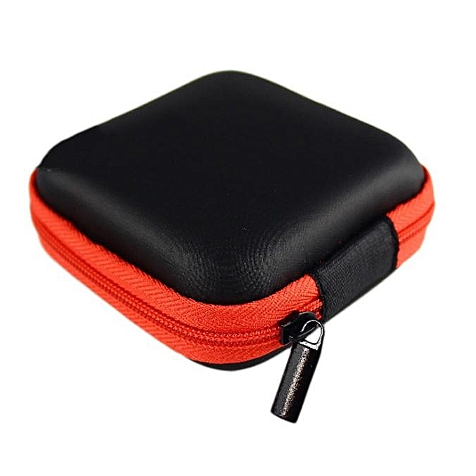Guoaivo Portable Mini Round Storage Case Bag For Earphone Headphone Sd Tf Cards