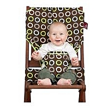Fabric Chair Harness - Chocolate Rings