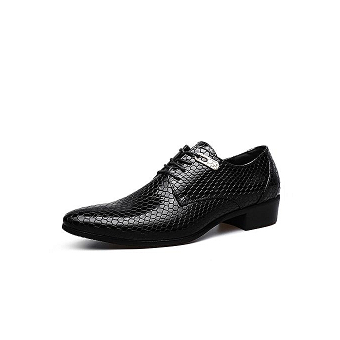 Buy Fashion Men Dress Shoes Genuine Leather Black Italian Fashion
