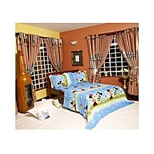 4PC - Mickey Mouse Flat Bedsheet Set – 4 x 6 – Blue