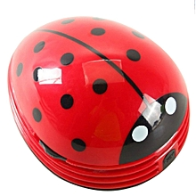 Cute Cartoon Ladybug Shape Desktop Vacuum Cleaner Keyboard Dust Collector randomly delivered