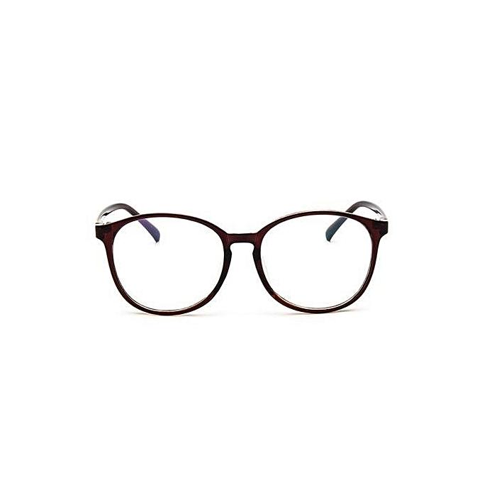 Buy Fashion Men Women Clear Plain Lens Oval Plastic Full Frame ...
