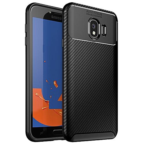 b27a24eb157 Generic Samsung Galaxy J4 2018 Silicone Case TPU Carbon Fiber Pattern Phone  Back Cover - Black
