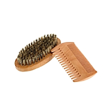 Men's Beard Brush & Comb Kit Set