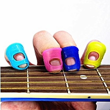 10PCS Guitar Ukulele Bass Silicone Thumb Finger Picks Fingertip Protector Plectrum