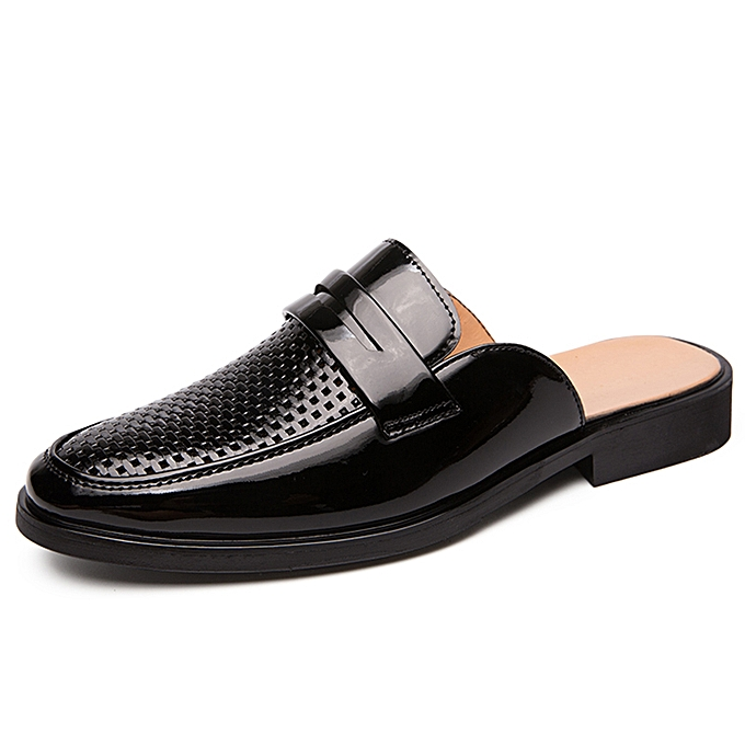 f4856f601d Luxury Loafers Shoes Men Fashion Personality Solid Black Slip on Leather  Shoes Man Footwear