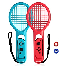 1 Pair For Nintend Switch Joy-con ABS Tennis Racket Handle Holder For Nintendo Switch NS Tennis ACES Game Player With 2 Analog Caps