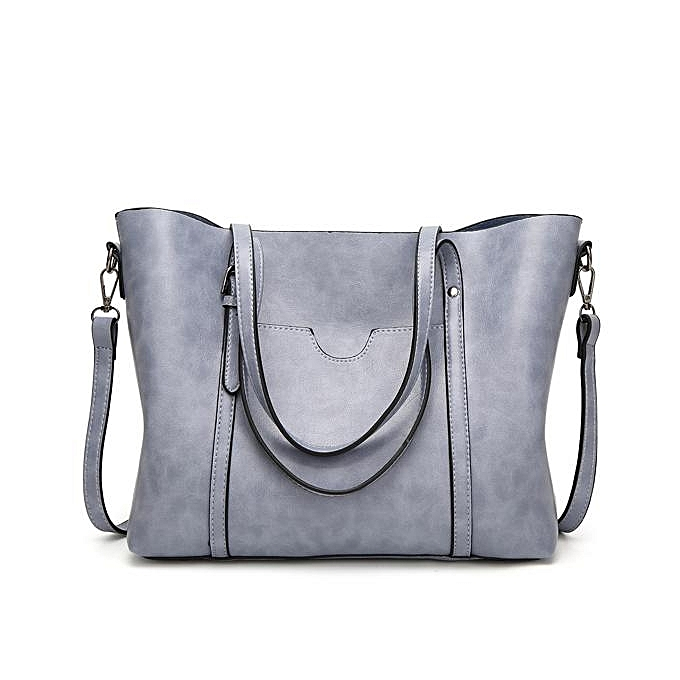 2017 new shoulder bag European and American fashion women s bag oil wax  leather ladies handbags Tote 9ddc4da187