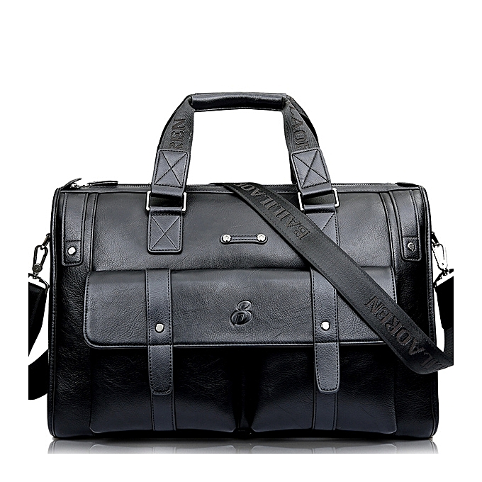 Men Vintage Business Briefcase Handbag Laptop Satchel Work Bag Travel  Rucksack -Black-Large 59f47a18b