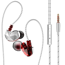 QKZ CK6 In Ear Adsorbed Design Earphone HiFi Earbuds Mega Bass Moving Headset With Mic