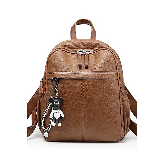 Boutique Leather Handbags Fashion Backpack Female Korean Bag 2018 New Las