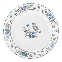 Romantique Glass Dinner Plates; Set of 6.