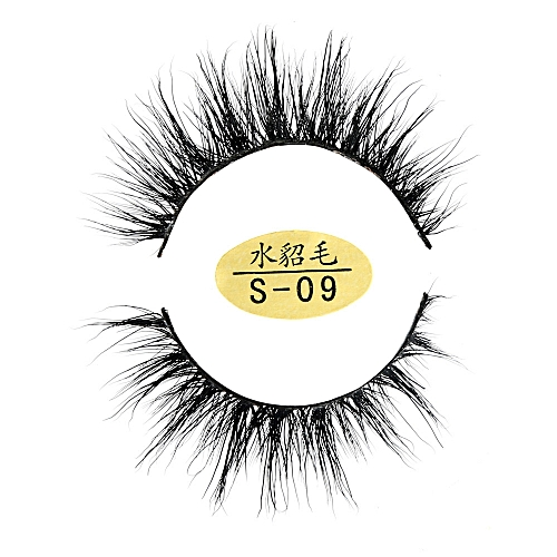 9e9d6290ca7 Zlime Natural 3D Eyelashes 100% faux Mink Hand-made False Lashes Soft 1 Pair