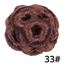 Hair Bun Hair Extension Flower Shaped Women Ladies
