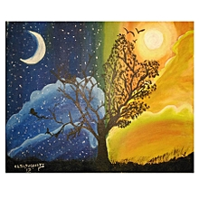 Landscape wall painting- 45 by 36cms- multicoloured