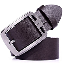 Olivaren Mens Leather Vintage Classic Jean Pin Buckle Belts Brown New -Brown