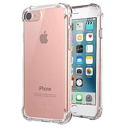 meet 78165 29348 IPhone 7 Case, for iphone 8 Case, Clear Shockproof Bumper Case Transparent  Silicon TPU Cover For IPhone 7 / 8 4.7 Inch 316839 Color-0