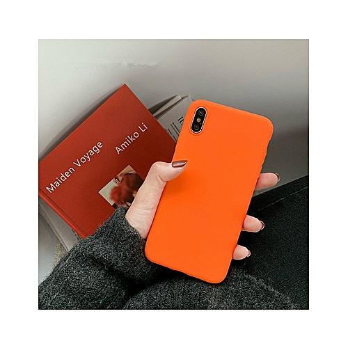 super popular fca9a 0b6ef for iPhone 7 8 case New Fashion Orange Matte Phone Case iPhone Soft  Silicone Cases iPhone-Light Orange