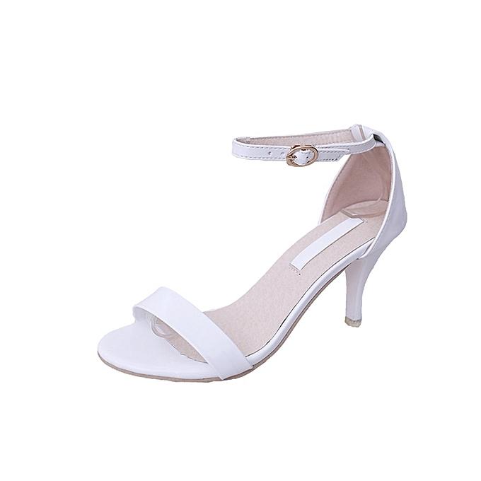 Blicool Shop Women Sandals Fashion Women Ladies Summer Buckle Sandals High  Heels Block Party Open Toe bc5f892f302e