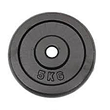 5kg gym weight plate black cast iron